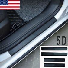 Hot 4Pcs 5D Carbon Fiber Car Sill Scuff Cover Anti Scratch Decal Sticker Us