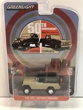 1966 Jeep Jeepster Commando Gold Black 1:64 Scale Greenlight 28020E