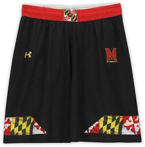 Maryland Terrapins Team-Issued Black Shorts from the Lacrosse Program Size XL