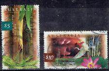 Australia. Qeii. 1996 - 99. Top values $5 & $10. Used. Scott 1534 & 1535.