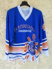 Maillot VIPERS MONTPELLIER Hockey Club porté n°41 shirt vintage bleu L