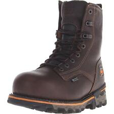 Timberland 9836 Mens Boondock Comp Toe Brown Work Boots 9 Medium (B,M) BHFO