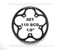 "MOJO Fixed Gear Chainring 50T - 110 BCD Track Fixie single speed 1/8"" - BLACK"