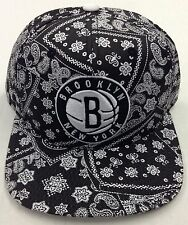NBA Brooklyn Nets Adidas Snap Back Cap Hat Beanie Style #VH59Z NEW!