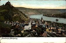 Braubach ~1910 Marksburg Burg Totale Heliocolor Verlag Ottmar Zieher ungelaufen