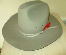 "Vtg EDDY BROS ""Eddy Hat"" Chris Eddy MADE USA! DUROFELT WESTERN COWBOY HAT 7 1/8"