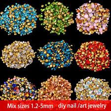 ss2-ss22 mix sizes round glass stone Point Back crystal Rhinestone Nail art deco