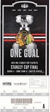 2015 CHICAGO BLACKHAWKS VS TAMPA BAY LIGHTNING STANLEY CUP TICKET STUB GAME #3
