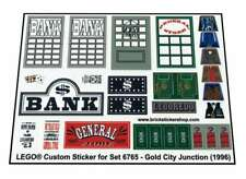 Custom Pre-Cut Transparent Sticker for Lego®set 6765 - Gold City Junction (1996)