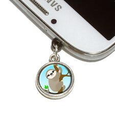 Sloth Just Hanging Around Mobile Phone Jack Charm Fits iPhone Galaxy HTC