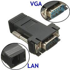 VGA Extender Female/Male To LAN Cat5 Cat5e RJ45 Ethernet Connector Adapter 1pcs