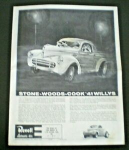 "Revell""STONE WOODS COOK 41 WILLYS"" Original Model Car Instruction sheet from1963"