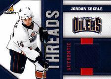 JORDAN EBERLE 2011 PINNACLE THREADS GAME USED JERSEY#/499 - R00KIE