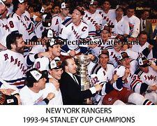1993-1994 NEW YORK RANGERS STANLEY CUP CHAMPIONS 8X10 TEAM PHOTO MESSIER RICHTER