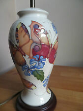 LARGE MOORCROFT LAMP WITH BUTTERFLIES PATTERN
