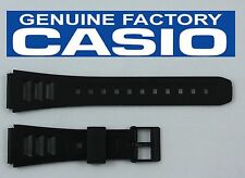 CASIO W-71 Original 19mm BLACK Rubber Watch BAND Strap W-71MV W-86