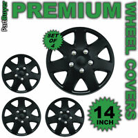 "Lambda Black 14"" WHEEL TRIMS/HUB CAPS Covers Universal SET OF 4"