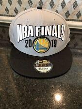 2019 NBA Finals Golden State Warriors Snapback Hat Gray New Era 9Fifty- NEW