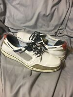 Sebago Triton Sport White Mens Leather Mesh Casual Boat Shoes Size US  12 M