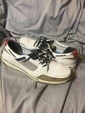 Sebago Triton Sport White Mens Leather Mesh Casual Boat Shoes Size US  12 M