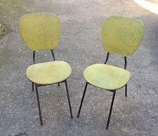 2 Anciennes CHAISES 1950/1960 Vintage Jaune et Noir - Rétro -Design
