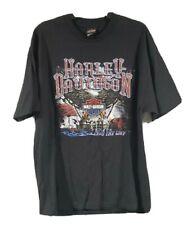 HARLEY DAVIDSON Motorcycle Eagle T-Shirt MORGANTOWN WV Coalminer Train Mens XL