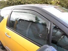 Wind Deflectors for CITROEN DS3 3-doors 2010 to 2015 2-pc Sun Visors Tinted