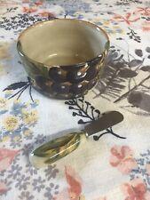 Tabletops Gallery Handpainted Napa Grapes Serving Bowl, Unbranded Knife Spreader