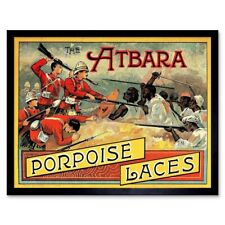 Advert Porpoise Boot Laces Empire British Native Battle 12X16 Inch Framed Print
