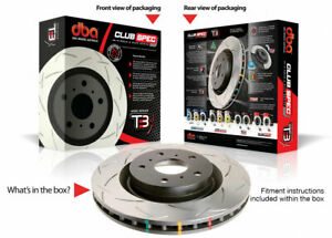 DBA 4000 Slotted Brake Rotors For Ford Focus RS Front and Rear (4 Rotors)