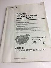 Instruction Manual Sony Digital 8 Handycam Trv230 Trv330 Trv530