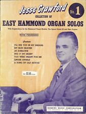 Easy Hammond Organ Solos Book 1 Crawford 1951 My Blue Heaven Song Of Old Hawaii