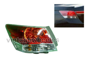 Rear Tail Light Left Fit For Honda Accord 7th & 8th Gen. 2003 To 2013