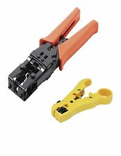 Cable Stripper for RG6/59/7/11 Cat5e Cat6 & COMPRESSION TOOL for RG-6/58/59