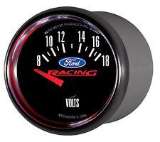 "Auto Meter 880081 Ford Racing Series 2 1/16"" Electric Voltmeter Gauge 8 - 18V"