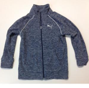 Puma Youth's Fleece Track Jacket,  NAVY BLUE L, (16)