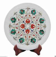 Marble Plate Inlay Pietra Dura Lapis Stone Handicraft Art Home Decor For Gifts