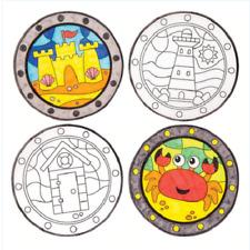 paquete de 6 Seaside Color-en la ventana decoraciones Manualidades Niños Y Niñas
