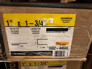 """Bostitch 16S2-44GAL 16-Gauge 1"""" Crown 1-3/4"""" Galvanized Staples - 6,000"""