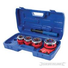 SILVERLINE 5PC PIPE THREADING KIT BSP THREAD CUTTING STEEL GALVANISED 868556 NEW