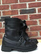 Ralph Lauren LRL Black Leather Shearling Zacha Boots 7.5 Woman's * RARE! $250