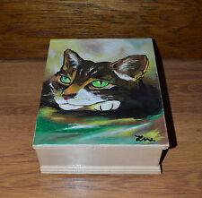 Einzigartige Individuelle Holz Schatulle Gedenken Urne für Katzen Asche