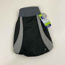 Top Paw 2 in 1 Dog Sweater Coat Black Reflective New
