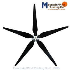 "5 Raptor Generation 5 Blades™ and Hub for Wind Turbine Generators 33"""