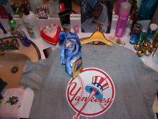 men's 2XL nice New York Yankees shirt & superb silk Jerry Garcia baseball tie