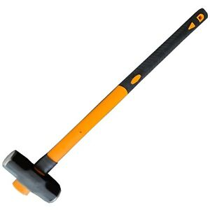 14Lb / 6.35kg Sledge Hammer With Fibreglass TPR Handle Demolition Post Driving