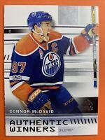 2019-20 Upper Deck SP Authentic Winners #AW-CM Connor McDavid Edmonton Oilers