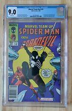 Marvel Team Up #141 CGC 9.0 White Pages | Newsstand, Spider-Man Black Costume