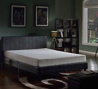 "Swiss Ortho Sleep 8"" High-Density, 3 x Layered MEMORY FOAM MATTRESS, w/Bamboo..."