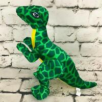 Plush Appeal Dinosaur Green Spotted Standing Raptor Stuffed Animal Soft Toy